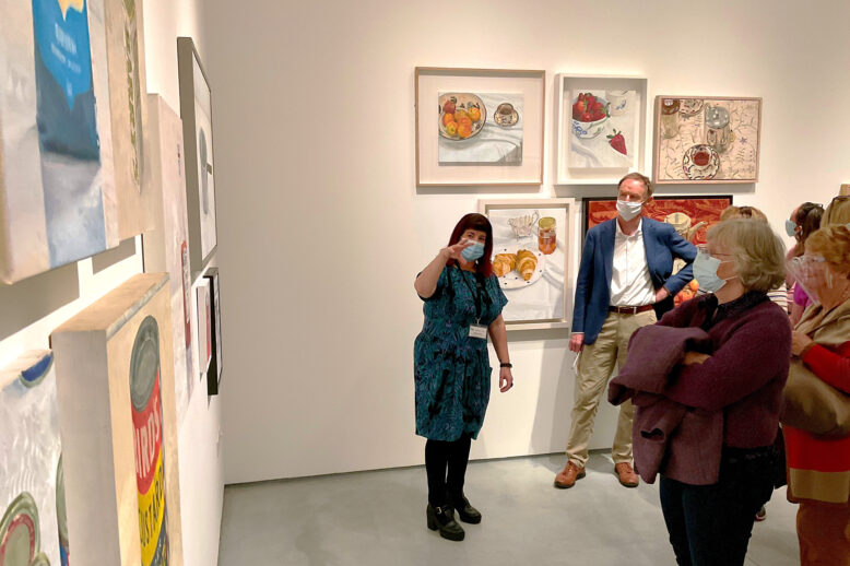 Pauline in mail gallery with group