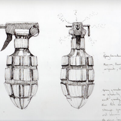 Aideen Barry, 'Spray Grenade: SG09/5#01', Pen and Ink on Paper, 25 x 23 cm, 2009