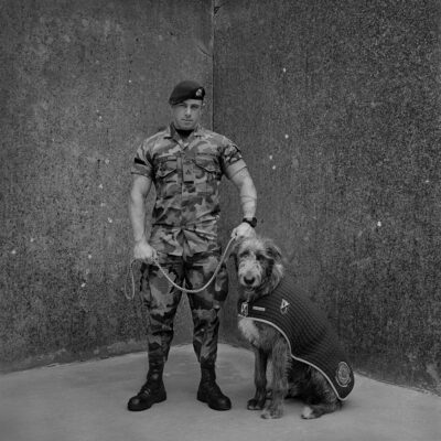 Amelia Stein, Battalion Mascot and Handler Irish Wolfhound Fionn, Private James Dooley, 2016