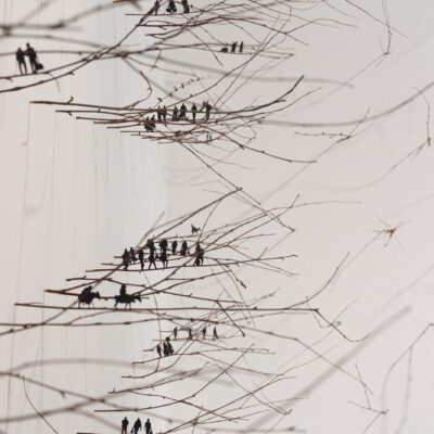 Anita Groener, 'Citizen' (Detail), Twigs and paper, installation, 2016, Credit: Photography Roland Paschhoff