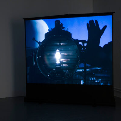 Cliona Harmey, 'Maritime', Luxburg Projection screen, 203cm x 152cm, 4:3 digital video, sound, Duration 4min 26sec, 2016, Credit: Photography Roland Paschhoff
