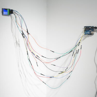 Cliona Harmey, 'Flag', Arduino microcontroller, Adafruit TFT screen, jumper cables, power Dimensions variable, screen, approx 5.6cm x 4cm, 2014, Credit: Photography Roland Paschhoff