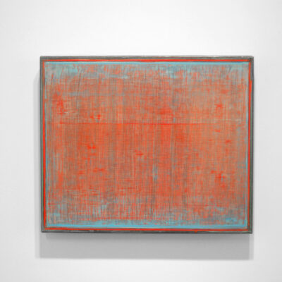 David King, 'Red over Blue', (From the series Push Pull), Oil on linen, 50.5 x 60.5cm, 2009-2010