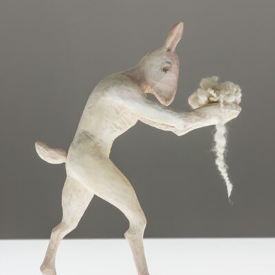 Janet Mullarney, 'St Anthony's Rabbit', Lime wood, 45 x 34 x 27cm, 2014, Credit: Photography Roland Paschhoff