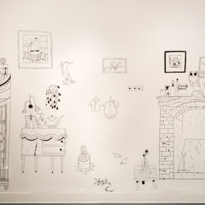 Song of the Sea: The Exhibition, Painted Prop Wall