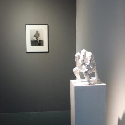 (L-R) Gypsy Ray, Joseph Watson, Silver Gelatin Photograph, Janet Mullarney, Indigestion, Glazed ceramic