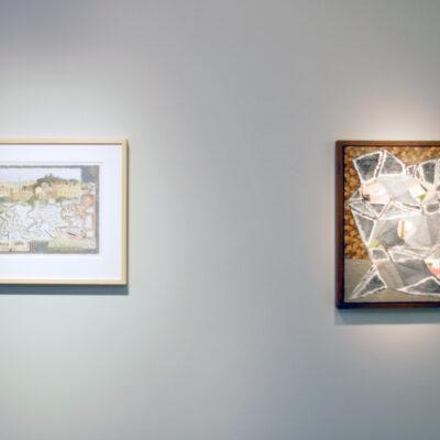 (L - R) Stephen McKenna (1939 - 2017), 'Stone Map', 1991,  Paul Doran, 'Untitled', 2007