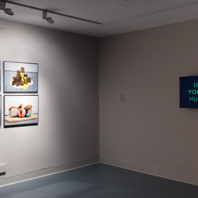 Liam O'Callaghan, 'Designs for public monuments that won't happen (the dumb series)', 2008. Jonathan Mayhew, 'Different Thoughts Various Evenings', 2017. Digital Video Duration: 11 minutes. Photograph Roland Paschhoff