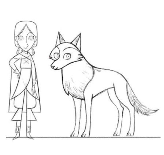 BG Wolf Walkers Colouring Sheet 7
