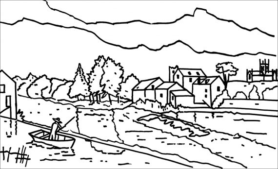 EJ BRENNAN Butler Gallery Collection Colouring Page