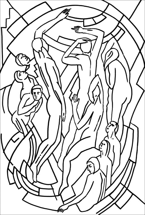 Mainie Jellet Butler Gallery Collection Colouring Page