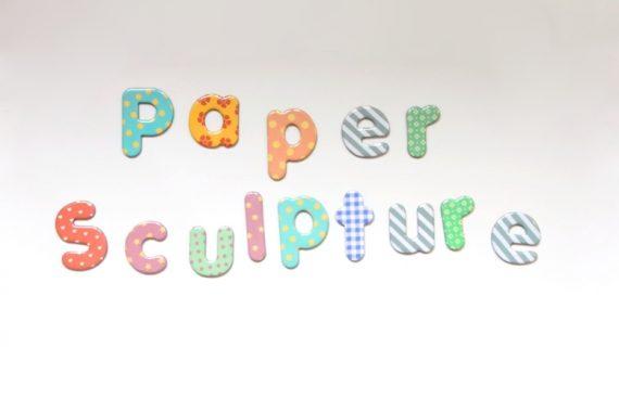 Paper sculpture banner